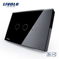 Wholesale Livolo switch touch switch intelligent products Home Furnishing rectangle C8 black remote double control three
