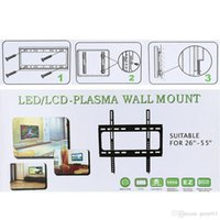 Wholesale New HDTV Wall Mount Flat Screen Bracket with VESA Compatibility TV Flat Panel Fixed Mount for quot quot LCD LED Plasma TV