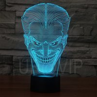 Wholesale Amazing D Illusion led Table Lamp Night Light with joker shape decorations star wars lamp