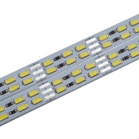 Wholesale 50pcs DHL free meter leds chip Cool Warm White double row smd Rigid LED bar light hard Strip max w DC12V