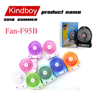 Wholesale 2016 Mini fan Protable Fan Multifunctional USB Rechargerable Kids Table Fan Battery Adjustable Speed F95B Multi Color free DHL