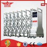 steel sliding gate - automatic stainless steel sliding folding gate design J1367