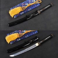 Wholesale Japanese Vintage Samurai Sword Full Tang Flexible Folded Steel Unokubitsukuri Blade Shape Handmade Tanto Sharp Edge Knife