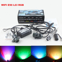Cheap WIFI RGB Led Marker E90 LCI 40W LED Angel Eye Error Free for BMW E90 E91 lci Sedan Wagon with halogen RGB LED angel eyes marker