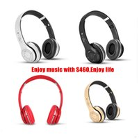 Cheap Cheapest S460 Bluetooth Headphones STEREO Headphone S460 wireless On-ear Headsets Earphones MP3 TF card microphone headphones DHL Free