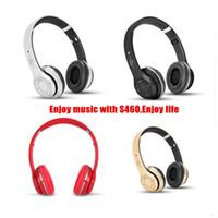 Wholesale Cheapest S460 Bluetooth Headphones STEREO Headphone S460 wireless On ear Headsets Earphones MP3 TF card microphone headphones DHL Free