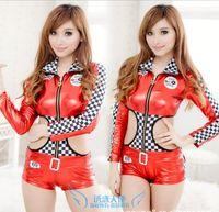 Wholesale Fashion Sexy car racing suit New sexy lingerie uniforms Underwear lace gather slim suit dress
