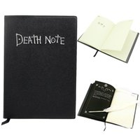 anime records - 200pcs Japan Anime Death Note Cosplay Notebook Feather Pen Writing Journal Anime Theme Diary Record Notebook Notepads
