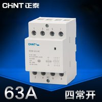 Wholesale CHINT Mini single phase AC contactor V Din Rail Type NCH8 four Normally Opem P A