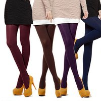 beauty pantyhose - NEW Beauty Colors Opaque Footed Thick Tights Tights Sexy Pantyhose Leg Warmers for Women Lady Girl