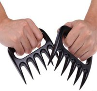 Wholesale Bear Claws Meat Fork Barbecue Grizzly Paws Handler Pull Shred BBQ Grill Tool Black Color Top Quality