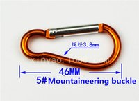 Wholesale 7 color Carabiner Ring Keyrings Key Chain Outdoor Sports Camp Snap Clip Hook Keychains Hiking Aluminum Metal Stainless Steel Hiking Camping