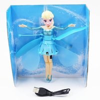 Wholesale Hot Sales Flying Fairy Frozen Princess Elsa Doll Helicopter Fly Toy Five Types