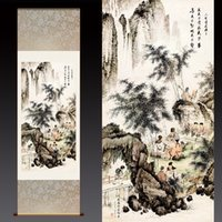bamboo scenery - Dragon Art Wall Picture Bamboo Scenery waterfall Fashion Home Decor Ink Painting on Canvas Modern Contemporary Artwork Figure Silk Paintings