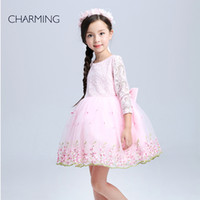 balls website - children s clothing long sleeved dress high quality lace dress fabric tutu style kids designer clothes websites shopping