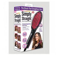 Wholesale Simply Straight ceramic hair Straightening brush Fast Easy Straight hair brush Straightening Irons VS DAFNI Hair Straighteners