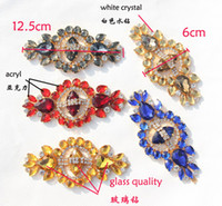applique glass - red sapphire blue yellow stone grey color glass crystal rhinestone metal applique acryl strass flowers