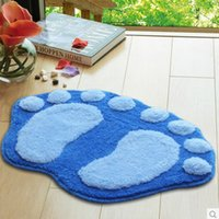 Wholesale Home Textiles New flocking antiskid mat kitchen bathroom sitting room the door for many color support