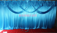 Wholesale 3m m wedding backdrop swag Party Curtain festival Celebration Stage Performance Background Satin Drape Wall Shielding cloth valance