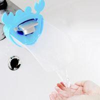 Wholesale Cute Crab Modelling Water Chute in Children Wash Hands Helper Bath Faucet Chute Guiding Gutter
