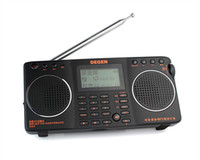 Wholesale FM MW SW GB in Portable Intelligent Multifunctional LED STEREO Radio DSP Receiver Bands DEGEN DE1128H radio