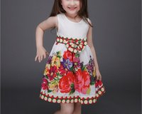 baby dress manufacturer - Factory manufacturers New Spring Summer Girls Printed Cotton Dress Baby Girl Clothes Princess Dresses XF115