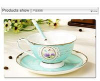Wholesale Chinese Porcelain Tea Cups Wholesale - Handmade Ceramic Cup European Style Coffee Mug Bone Chinese Porcelain Tea Sets Enamel High Quality Christmas gift