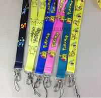 Wholesale Hot Pokémon Go Mobile Cell Phone Lanyard Neck Straps Cartoon Poke Ball Mobile Phone Lanyard Keychain Straps Red Ball Charms Gifts
