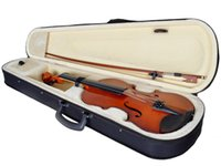 Wholesale New Full Size Natural Acoustic Wood Color Violin Fiddle with Case Bow Rosin