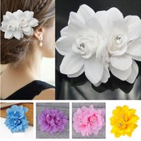 Wholesale Beauteous Hair Flower Clip Pin Bridal Wedding Prom Party Hair Accessories Hairbands for Girl Women