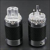 audio chassis - Unprinted Carbon Fiber Rhodium Plated Brand new US Power Plug IEC Carbon Fiber Metal Chassis Connector IEC Audio Plug HIFI