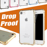 apple drops - Arcylic Case For iPhone Case Drop proof Camera Protection Soft TPU PC Clear Full Hard Case For iPhone Plus S Samsung S7 Edge