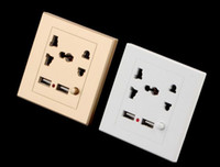 Wholesale Dual USB Electric Wall Charger Dock Station Socket Power Outlet Panel Plate