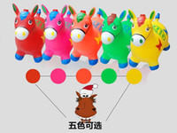 Wholesale Children s inflatable toys jumping Maccabees thick increase environmental music horse riding inflatable baby horse enviro