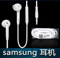 Wholesale Samsung S6 m black and white In ear neutral headphones with mm three stage gold plated plug