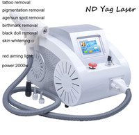 Wholesale Portable ND Yag Laser Q switch Tattoo Removal Machine Remove Pigmentation Acne Scar Equipment nm nm nm