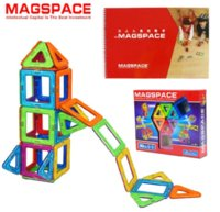 baby toys used - 30 Magformers MAGSPACE D Magnetic Model Building Kits DIY forge world doll house learning baby toy can use with Magformers