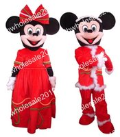 Wholesale high quality EVA Material Mickey And Minnie Mascot Costume Halloween party Adult Size