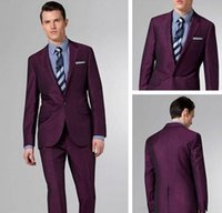 best gun light - The new wine red gun collar buttons groom suit best man suit suit jacket and trousers the groom
