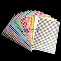 Wholesale 10mm Round Blank Dots Sticker Pink blue orange red white black sealing labels cm Diameter