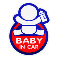 baby car stickers - New Lovely Reflective D BABY IN CAR Sticker Warning Decal Reflect Car Stickers for Family Mama Dad Car Driving of Baby Protect