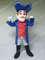 Wholesale MALL132 Custom Patriot Male Mascot Costume Adult Anime Costumes Cartoon Character Patriot Theme Mascotte Fancy Dress Carnival Halloween