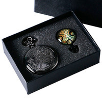 analog movie - Uk movie Doctor Who Pocket Watch men quartz fashion Necklace Dr Who Seal pendant With Luxury Gift Box Set