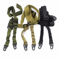 Wholesale Tactical Two Point Rifle Sling Adjustable Bungee Tactical Airsoft Gun Strap System Paintball Gun Sling for Airsoft Hunting