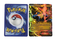 Wholesale Flash card ALL MEGA poke cards EX Charizard Venusaur Blastoise For children Gift English Card