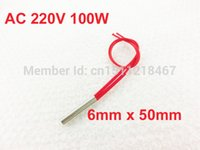 Wholesale AC V W mm x mm Heating Tool Stainless Steel Cartridge Heater