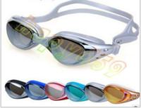 Wholesale adult unisex man swimming goggles lady electroplating goggles UV anti fog waterproof eyewear swimming goggles whit earplug nose buckle
