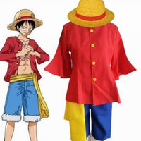 animations halloween costumes - M25 Role play the clothing Pirates Wang Monkey D Luffy Luffy generation of clothes Animation role play clothes Stage performance clothing