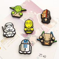 Wholesale Star Wars Darth Vader Fridge Magnet funny characters Fridge Sticker Cartoon Stars Wars Solider Yoda Fridge Refrigerator magnet
