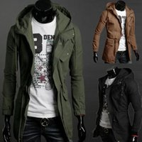 Wholesale New Men s Military Fashion Casual Jacket Warm Winter Coat Slim Outwear Overcoat